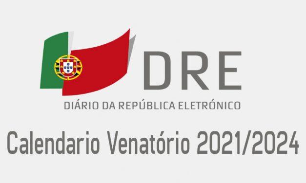 Calendario Venatório 2021/2024